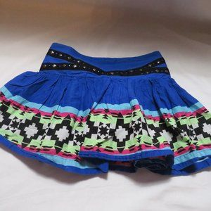 Girls Justice Tribal Blue skirt